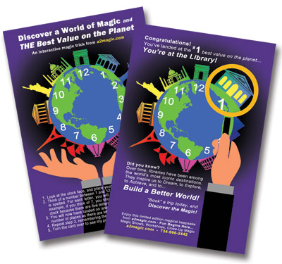 Build a Better World  FREE Magic Trick for your readers from a2magic.com